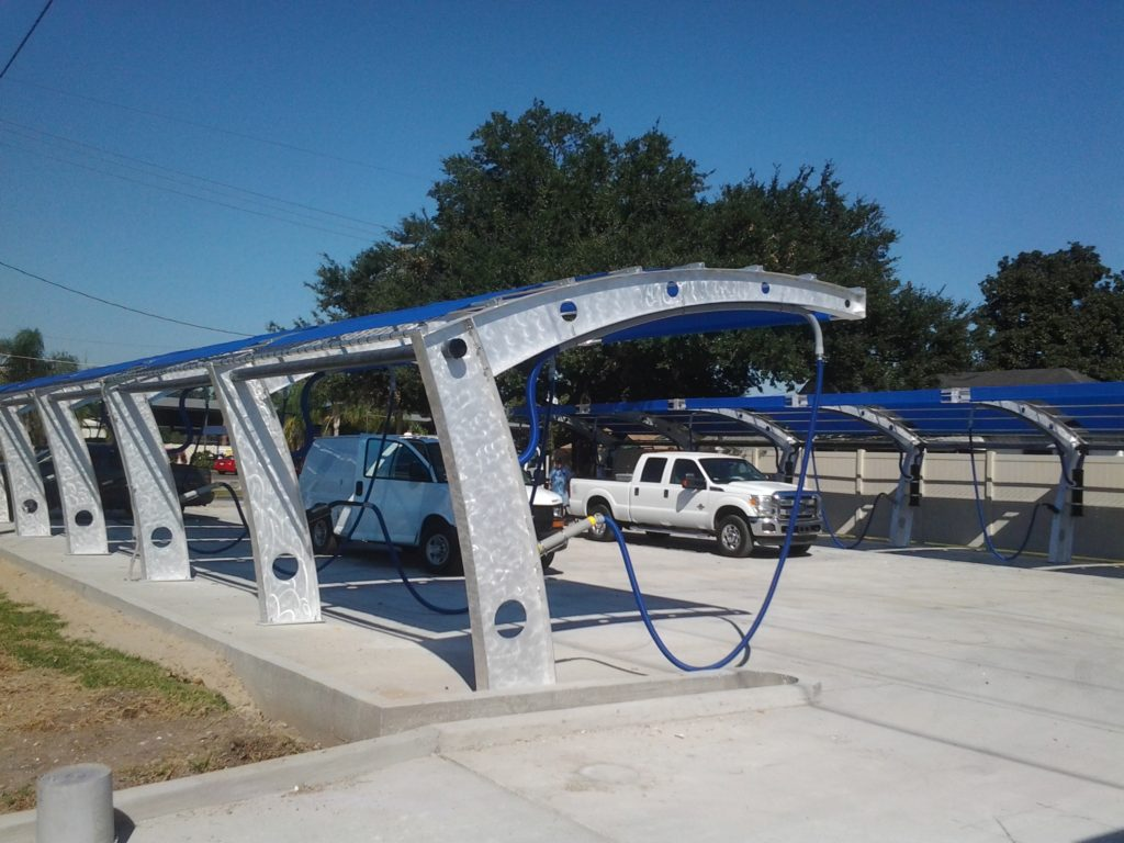 Manufactured Exclusively By Sunbelt CWS And Customizable To Your Car Wash SunBloc Vacuum Canopies Are Hand Crafted With An Aluminum Base Sunbrella